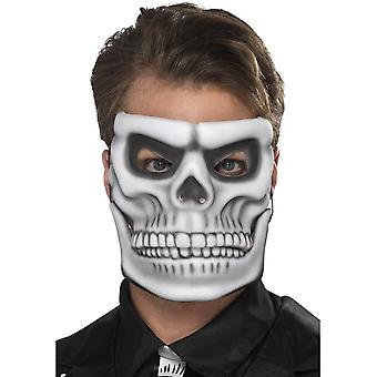 Day of the Dead Skeleton Mask, WHITE