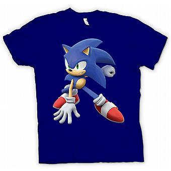 Мужская футболка-звуковой еж - геймер