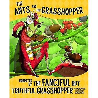 De mieren en de Sprinkhaan, verteld door de fantasierijke maar waarheidsgetrouw Sprinkhaan (non-fictie prentenboeken: de andere kant van de fabel)