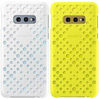 Samsung pattern cover yellow and white EF-XG970CWEGWW Samsung Galaxy 10e G970F bag pouch sleeve case