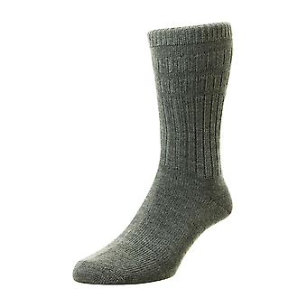 Mens HJ Hall Softop Loose Wide Top Non Elastic Thick Wool Rich Socks