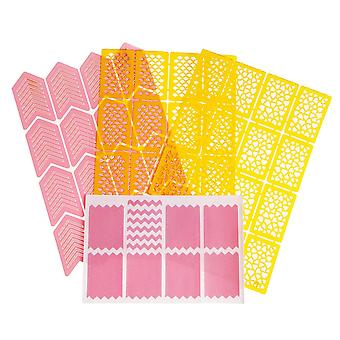 4pcs Sheets-Nail templates-Vinyl stickers-Different designs