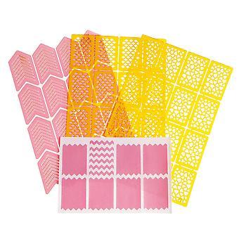 4pcs Sheets-Nail plantillas-vinilo pegatinas-diferentes diseños