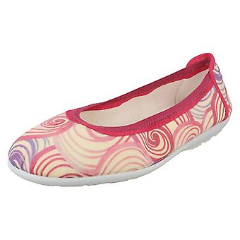 Ladies Easy B Casual Slip On Shoes Swirl