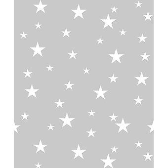 Diamond stjerner grå sølvglitter tapet drenge piger soveværelse Vinyl Arthouse