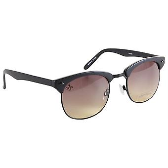 Jeepers Peepers Round Browline Sunglasses - Black/Brown
