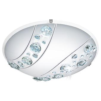 Eglo - verre LED Satin Nerini & EG95576 lumière de plafond cristal