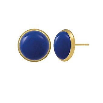 Wieczne kolekcja Symfonia Lapis Blue howlit złoto przebili kolczyki