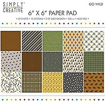 Simply Creative 6x6 Inch Paper Pad Go Wild (SCPAD080)