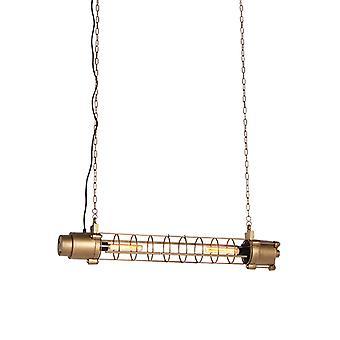 QAZQA Industrial Pendant Lamp Antique Gold-Fuze