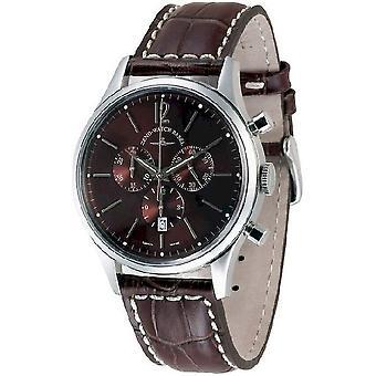 Zeno-relógio mens assistir evento cavalheiro cronógrafo 43 marrom Q 6564-5030Q-i6