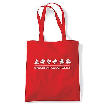 Choisissez votre arme sagement, fourre-tout - Passe-temps DND Reusable Shopping Canvas Bag Cadeau