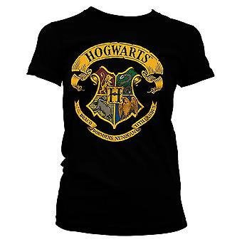 Women's Harry Potter Hogwarts House Crests Fitted T-Shirt