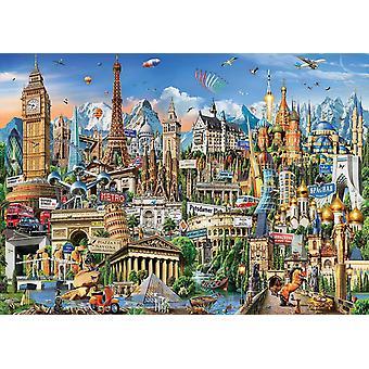 Educa Europe Landmarks Yapboz (2000 Adet)