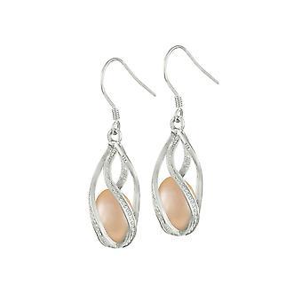Ewige Kollektion faszinieren Pink Drop Süßwasser Perlen Sterling Silber Ohrstecker