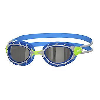 Zoggs Predator Mirror Junior Swim Goggle - Mirrored Lens - Green/Blue