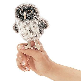 Finger Puppet - Folkmanis - Mini Owl Spotted New Animals Soft Doll Plush 2638