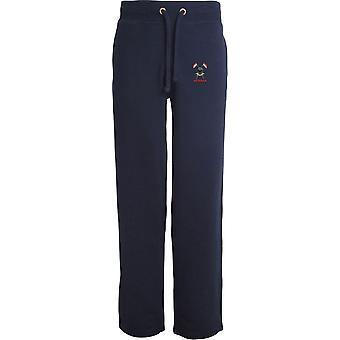 Queens Royal Lancers Veteran - Licensed British Army Embroidered Open Hem Sweatpants / Jogging Bottoms