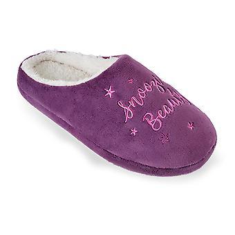 Sleeping Beauty Princess Slogan Slippers Slip-on Open Back Mules For Women/Teen Girls UK/EU Sizes