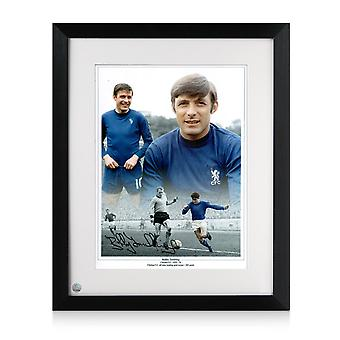Framed Bobby Tambling Signed Chelsea Photo