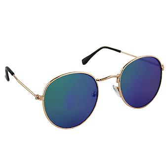 Sunglasses UV 400 child round gold blue MeerkleurigSK1085_6