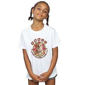 Marvel Girls Captain Marvel Goose Cool Cat T-Shirt