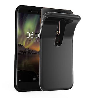 Cadorabo Hülle für Nokia 6.1 2018 Case Cover - Handyhülle aus flexiblem TPU Silikon – Silikonhülle Schutzhülle Ultra Slim Soft Back Cover Case Bumper