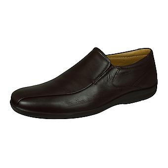 Sledgers Ridul Loafer Mens Slip on Leather Shoes - Brown