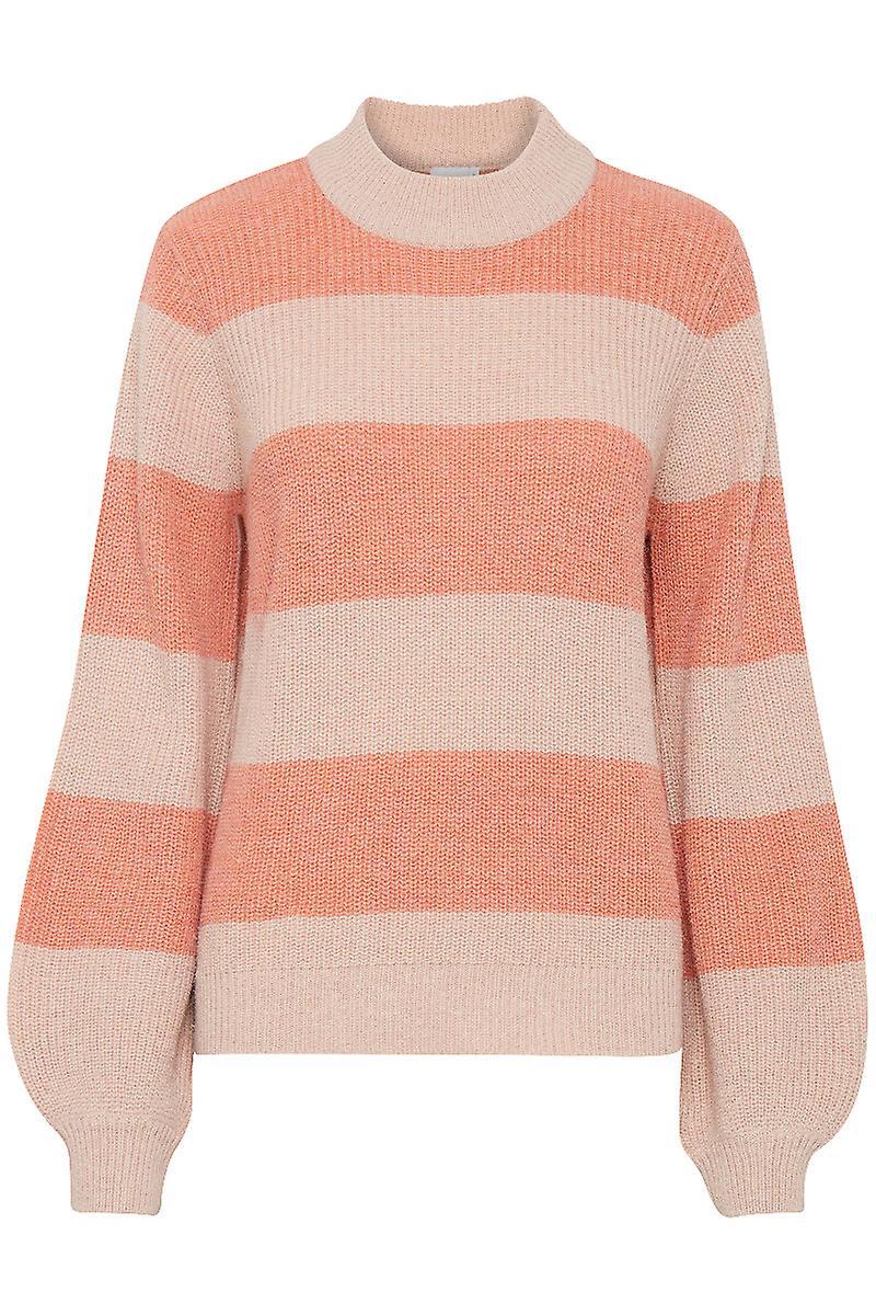 Ichi Greenfire Wide Stripe Jumper Pink