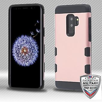 MYBAT Rose Gold/Black TUFF Trooper Hybrid Protector Cover for Galaxy S9 Plus