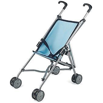 Poppen wereld kinderwagen blauw