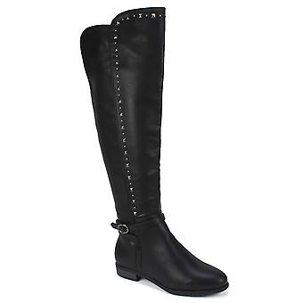 Rialto Womens Ferrell Leather Almond Toe Knee High Fashion Boots