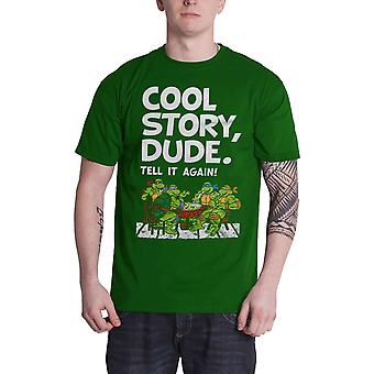 Teenage Mutant Ninja Turtles T Shirt Cool Story Dude new Official Mens Green