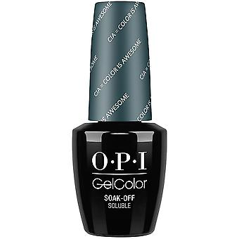 OPI GelColor Gel Color - Soak Off Gel polonais - CIA Color Is Awesome 15ml (GC W53)
