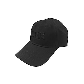 Nirvana Baseball Cap Text Band Logo new Official Black Strapback