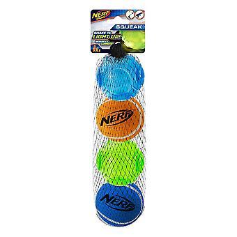 Nerf Dog LED Assorted Tennis Balls - 4 Pack