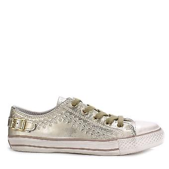 Ash VIRGO Trainers Gold Leather