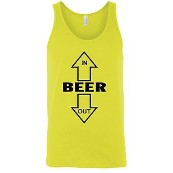 Men's Beer In Beer Out Tank Top