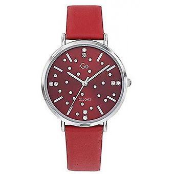 Watch Go Girl Only 699281 - Silver Steel Bracelet Red Leather Red Red Dial Women