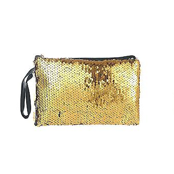 Jewelcity kvinner/Ladies reversibel sequin flat makeup bag
