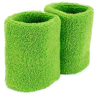 Wrist Sweatbands 2-pack, Green