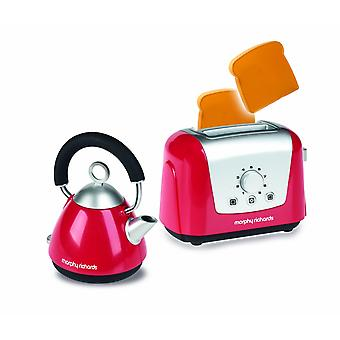 Casdon Morphy Richards Toy Toaster and Kettle Set, Red