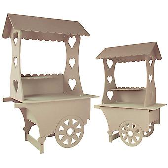 Candy Cart Bundle Weddings Sweets Stall Birthday Christening Favours Stands MDF Wood