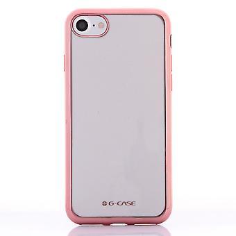 Case For iPhone 8 / IPhone 7 Transparent Contour Rose