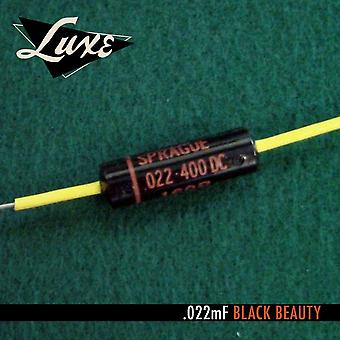 Luxe 1960-1970 Single Luxe Paper & Foil .022mf Black Beauty Capacitor