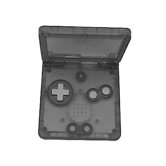 Replacement housing shell for game boy advance sp gba nintendo - clear black | zedlabz