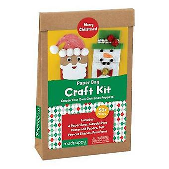 Merry Christmas Paperbag Craft Kit by Designed by MUDPUPPY
