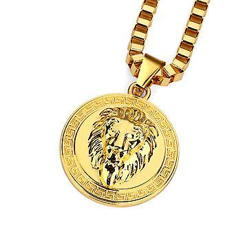 Löwe gold Münze Halskette