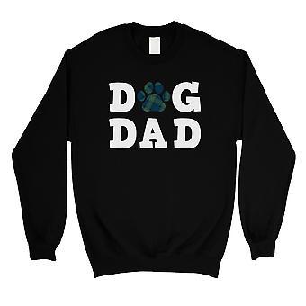 Dog Dad Mens/Unisex Black Fleece Sweatshirt Responsible Playful