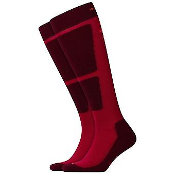 Burlington Uni Snow Funny Boy Knee High Socks - Red Pepper/Dark Red